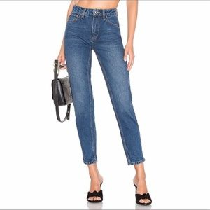 UO Free People Mom High Rise Waist Jeans